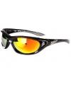 Biker zonnebril plastic zwart